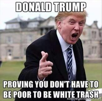 donald-trump-proving-you-dont-have-to-be-poor-to-be-white-trash-funny-meme-picture